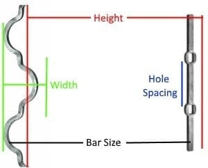 Wrought Iron Bar Diagram